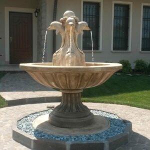 Springbrunnen mit Delfin Nizza Art.2220 Gartenbrunnen