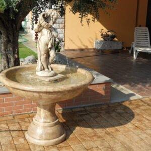 Springbrunnen mit Putte Costazzurra Art.2152 Gartenbrunnen
