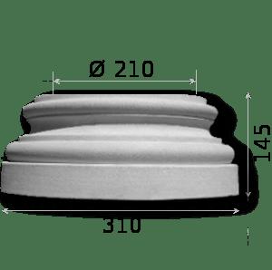 Kapitel und Basis bis 21 cm