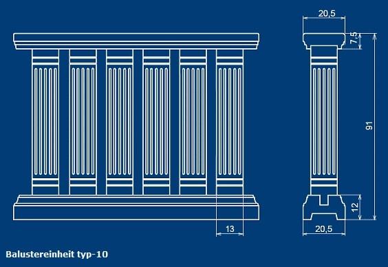 Balustrade Typ10