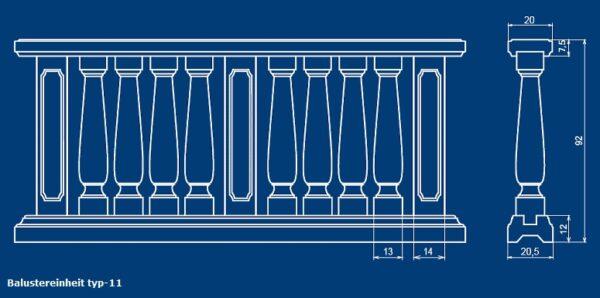 Balustrade Art.Typ11