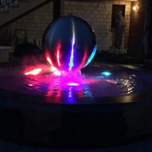 Springbrunnen Saturno moderner Gartenbrunnen