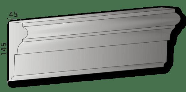 Außenstuck für Fassade Art.L17A, pro Meter