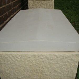 Mauerabdeckung mit Satteldach Maße: 45x80cm Art.P445