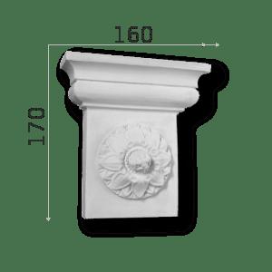 Außenstuck Zierelemente und Konsolen Art.DB12A Höhe: 17cm