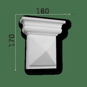 Außenstuck Zierelemente und Konsolen Art.DB13A Höhe: 17cm