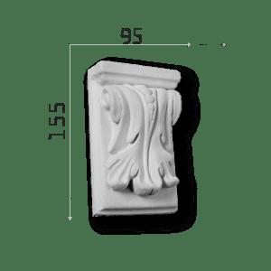 Außenstuck Zierelemente und Konsolen Art.DB4A Höhe: 15,5cm