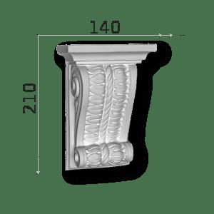 Außenstuck Zierelemente und Konsolen Art.DB5A Höhe: 21cm