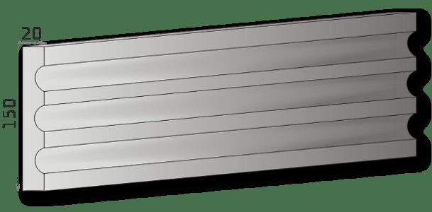 Außenstuck für Fassade Art.L15A, pro Meter