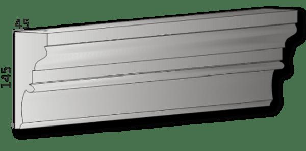 Außenstuck für Fassade Art.L18A, pro Meter