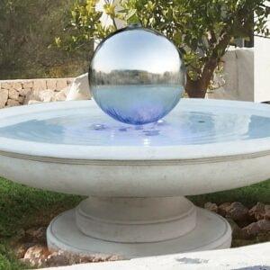 Springbrunnen mit Edelstahlkugel Neptun Art.2270 Gartenbrunnen