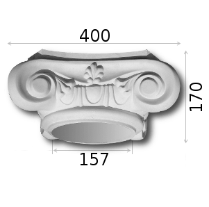 Kapitelle und Krointhisch Art. KkA35B Durchm: 35 cm